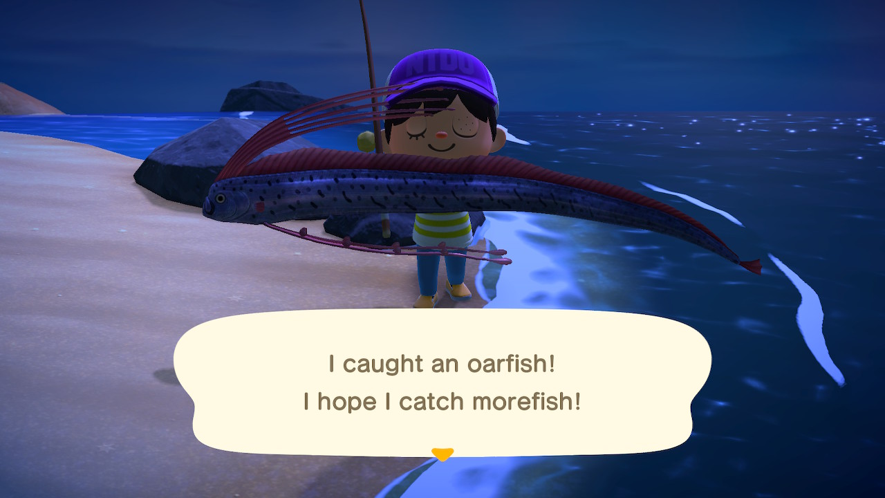 I caught an oarfish! I hope I catch morefish!