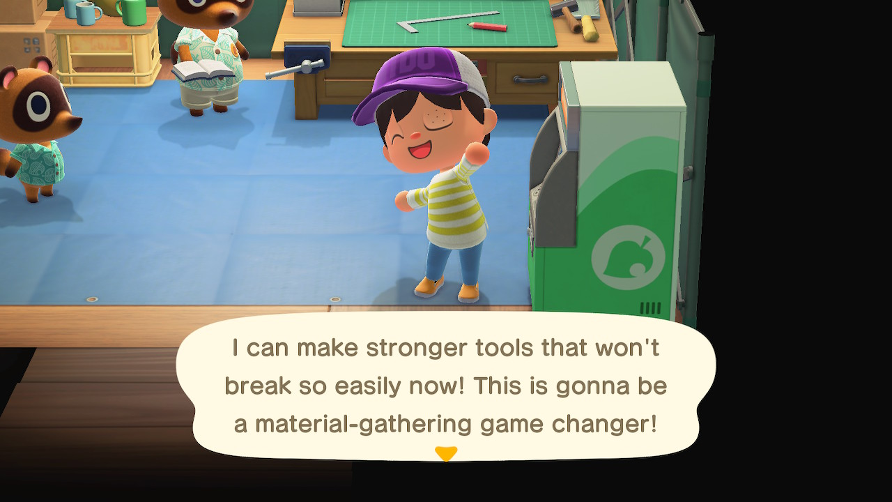 I can make stronger tools that won't break so easily now! This is gonna be a material-gathering game changer!