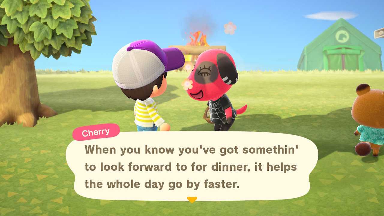 Cherry: When you know you've got somethin' to look forward to for dinner, it helps the whole day go by faster.
